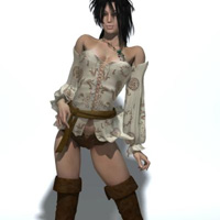 Pretty3D's Hi-fantasy Pirate fit to GND2